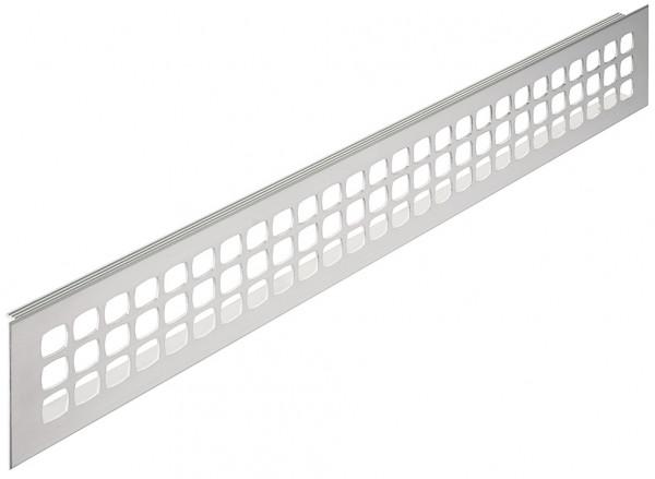 Häfele Lüftungsgitter H3635 eckig Aluminium Edelstahlfarben mit gerillten Stegen