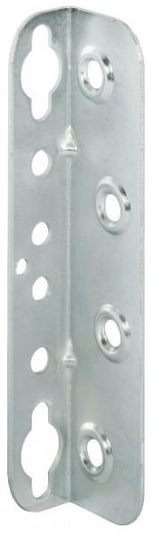 Häfele Bettverbinder HS mit Schlüssellochstanzung und Sicherungslöchern Stahl chromatiert