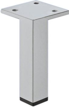 Häfele Möbelfuß H3903 ohne Höheneinstellung mit Platte alufarben