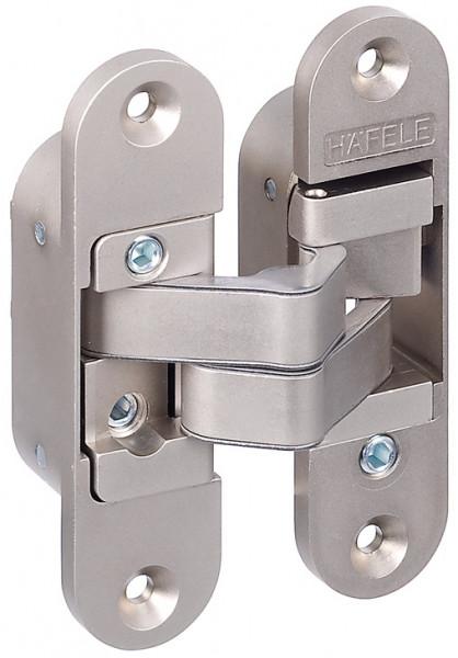 Häfele verdeckt liegendes Türband 3-D-verstellbar für ungefälzte Innentüren 40 mm