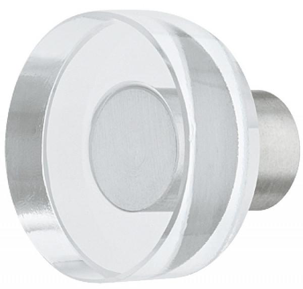 Häfele Möbelknopf H2052 Glasknopf rund Edelstahl/Glas Ø 25 mm
