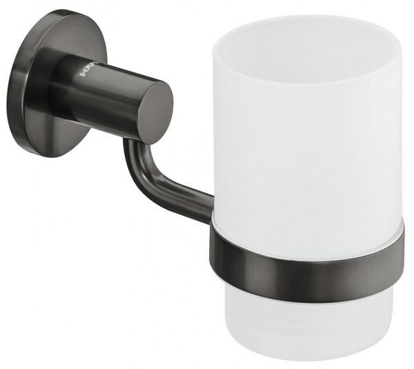 Häfele Becherhalterung H3271 Messing graphit-schwarz rund