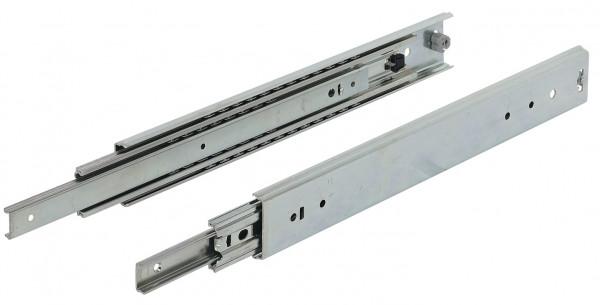 Häfele Kugelführung Vollauszug bis 129 kg Stahl seitliche Montage mit Rastung in geschlossener Posit