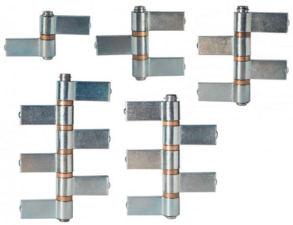 Konstruktionsbänder Stahl blank Torbänder zum Anschweißen
