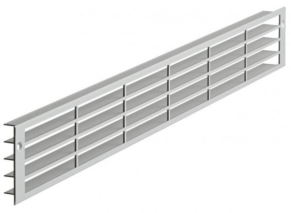 Häfele Lüftungsgitter H3637 eckig 570x57 mm Aluminium nach hinten verlaufende Lamellen