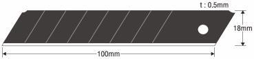 KDS Abbrechklingen LB-10B EVO Ersatzklingen schwarz 18 mm für Cuttermesser