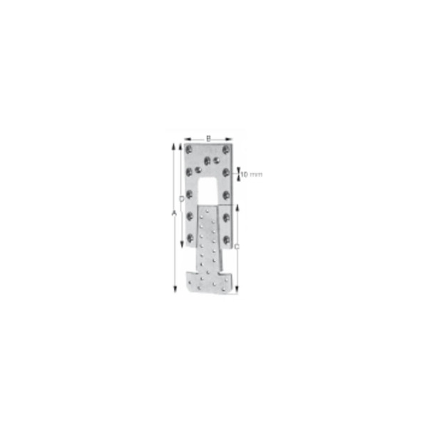 Simpson Hirnholzverbinder Type ETB Aluminium mit Zulassung
