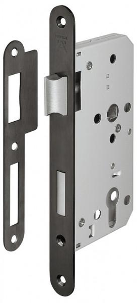 Häfele Einsteckschloss H8100 für Holztüren PZ 72 Dornmaß 55 mm graphitschwarz Klasse 3