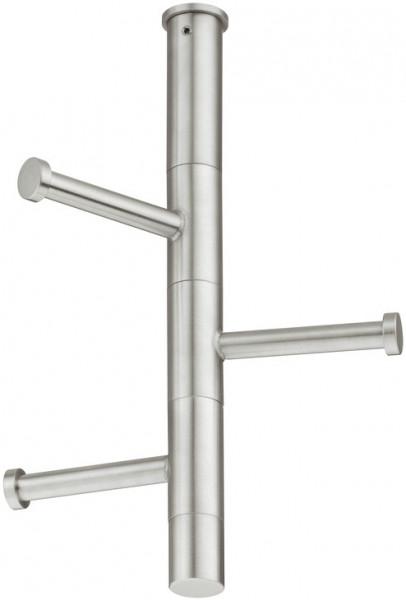 Häfele Garderobe H4105 Edelstahl mit 3 drehbaren Haken Garderobenhaken zur Unterbodenmontage