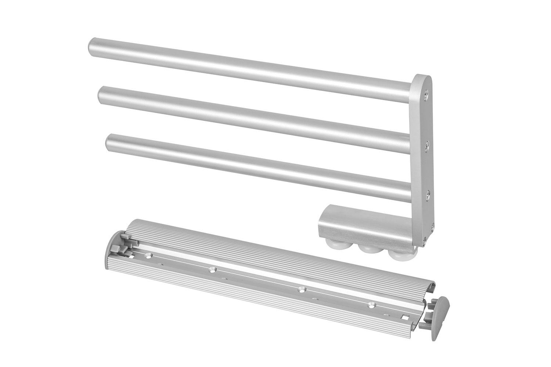 GedoTec Moderner Handtuchhalter SERENA-A Chrom Handtuch-Auszug 325 mm ausziehbar