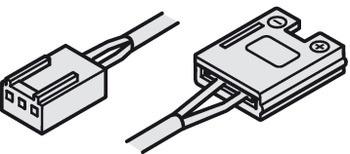Häfele Zuleitung 24 V multi-weiß mit Clip für 10 mm Loox LED-Band