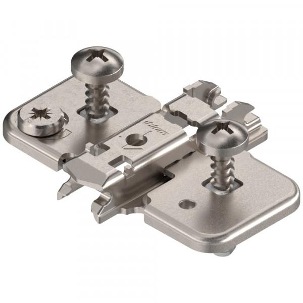 Blum Clip Top Kreuzmontageplatte mit Schrauben und Spreizdübeln 0 mm 174H7100E