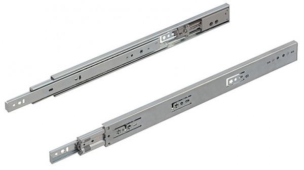 Häfele Kugelführung Teilauszug bis 45 kg Stahl mit Selbsteinzug und Dämpfung Smuso