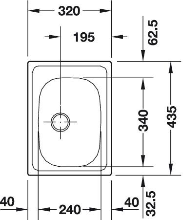 Franke Ablaufverbindung für Franke Spüle EUROSTAR ENX 110