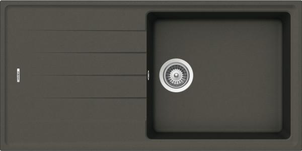 Aufbauspüle AS01L mit großem Becken 1000 x 500 mm Anthrazit