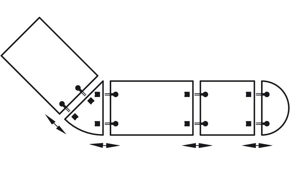 Häfele Tischplattenverbinder Trennbar Möbelverbinder H4002 Bettverbinder