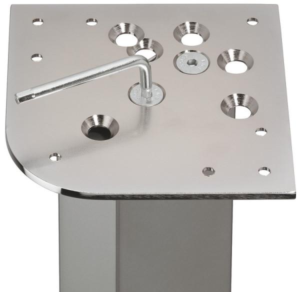 Häfele Anschraubplatte für Tischbeine aus Stahl 162 mm