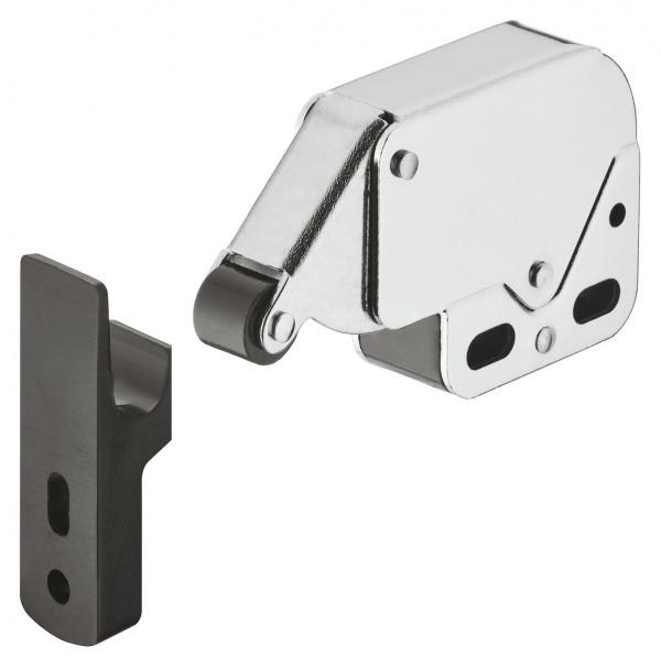 Häfele Federschnapp-Verschluss Mini-Latch schwarz zum Schrauben Druckschnäpper