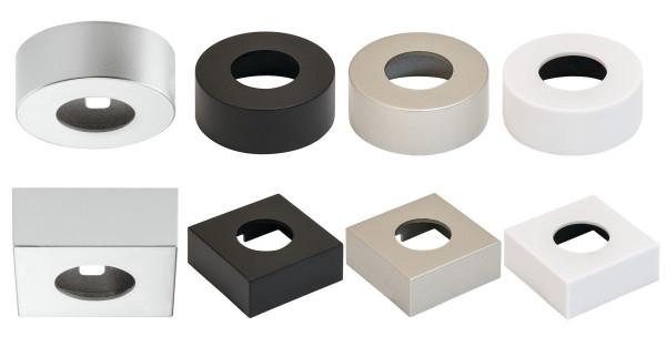 Unterbaugehäuse rund oder eckig für LOOX5 LED 2040