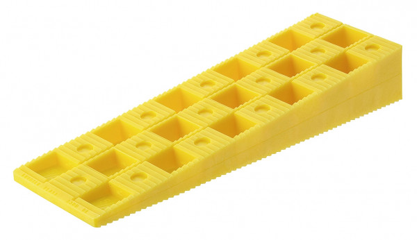 Knudsen Distanzkeile gelb zum Unterlegen von Konstruktionen
