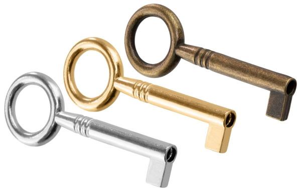 Möbelschlüssel SALIERI aus Metall Schaftlänge 30 mm