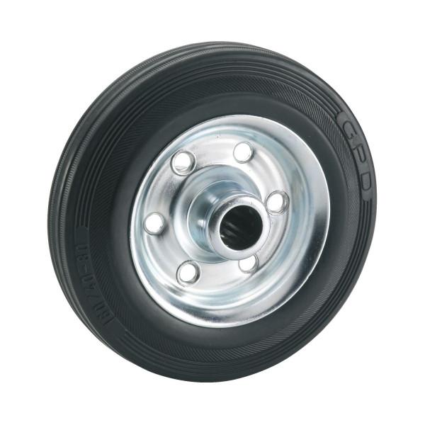 Vollgummi-Rad mit Rollenlager Ø 80 bis 200 mm