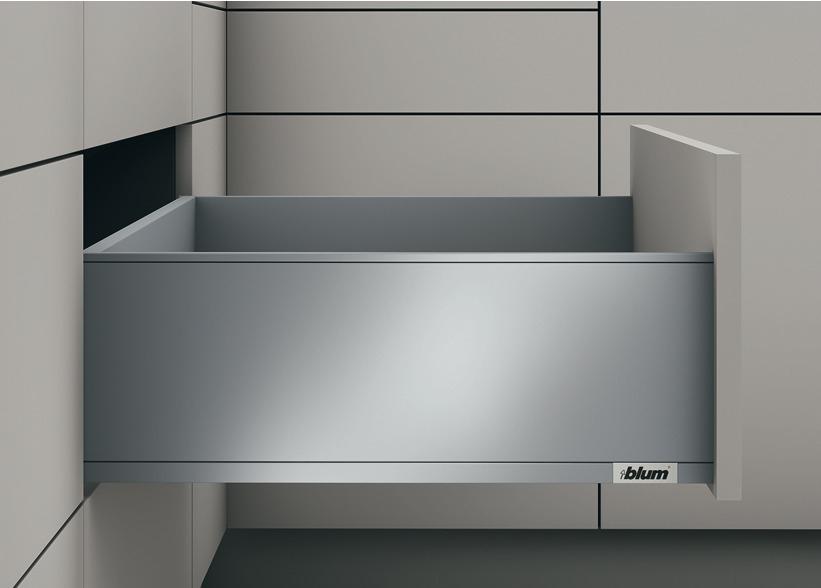 Blum LEGRABOX pure Frontauszugs-Garnitur C mit Tip-On Blumotion verschiedene Längen und Farben