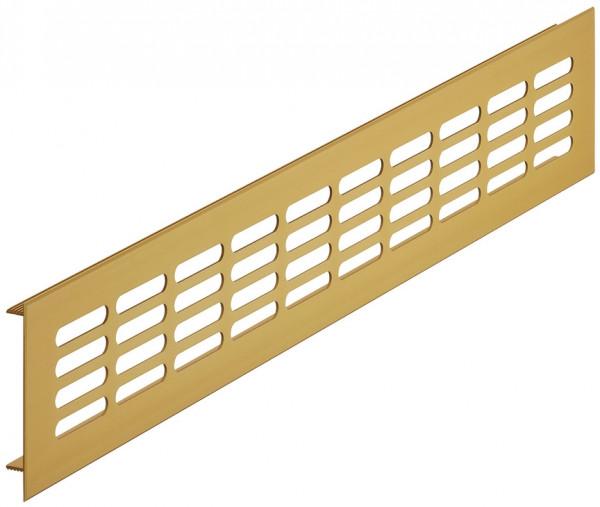 Lüftungsgitter H3622 eckig goldfarben Heizkörpergitter geschlitzt Aluminium verschiedene Größen