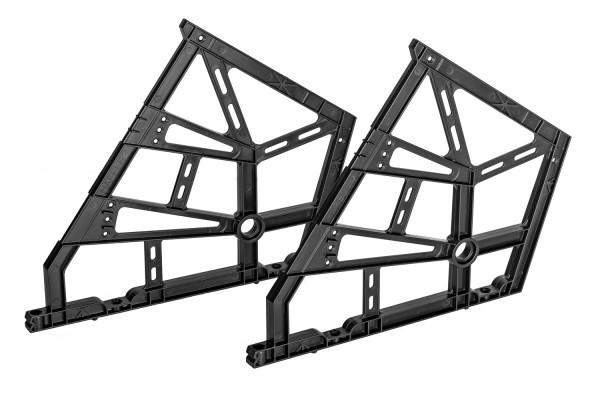 Häfele Kippbeschlag mit optional integrierbarer Dämpfung für Schuhschränke mit 3 Fächern zum Einbau