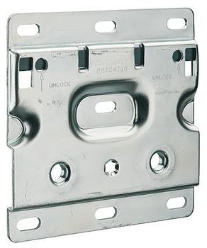 Häfele Trägerplatte für Unterschrankaufhänger mit Aushängesicherung