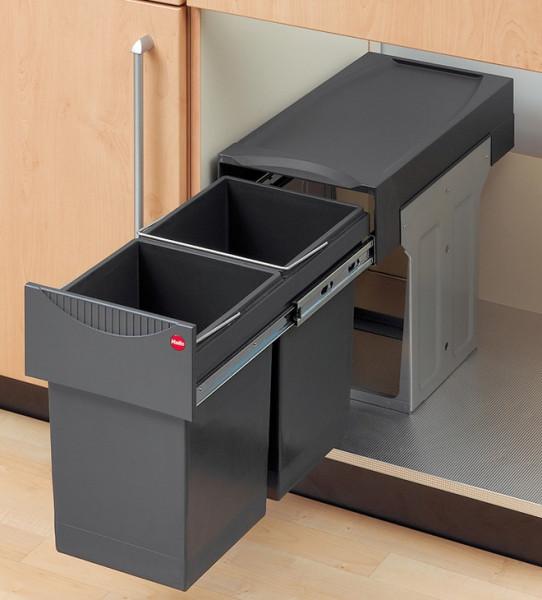 Hailo Doppel-Abfallsammler Tandem 3666-10 Mülleimer 2 x 15 Liter