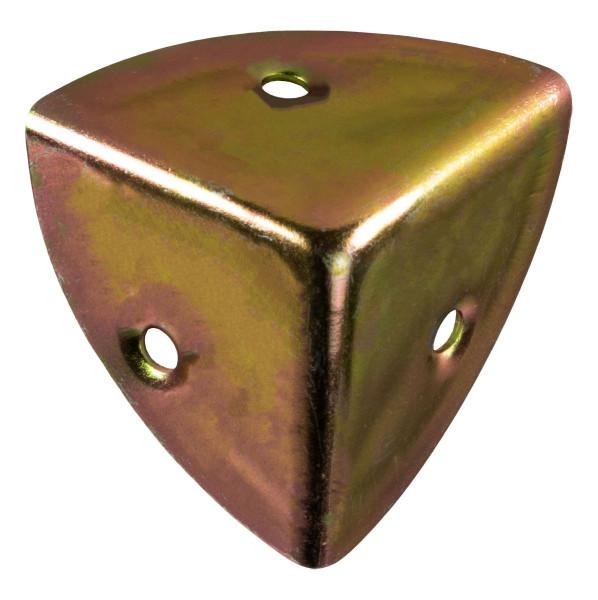 Kistenecke aus Stahl verzinkt 35 x 35 mm