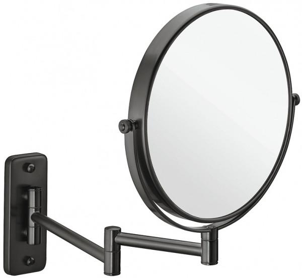 Häfele Kosmetikspiegel H1051 graphit-schwarz rund