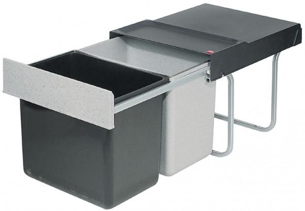 Hailo Doppel-Abfallsammler Raumspar-Tandem 3640-00 2x18 Liter