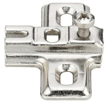 Häfele Kreuzmontageplatte H1426 Metalla Mini A Stahl vernickelt