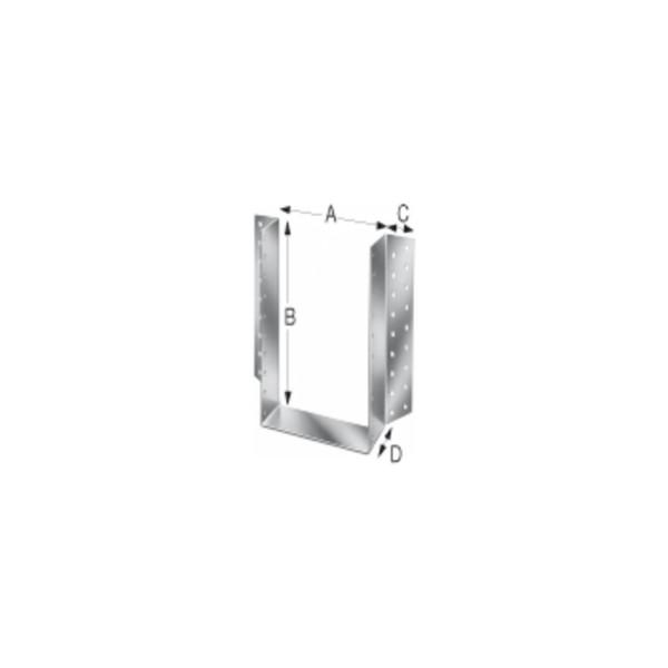 Simpson Balkenschuh Holzverbinder Type BSD aussenliegend feuerverzinkt mit Zulassung verschiedene Gr