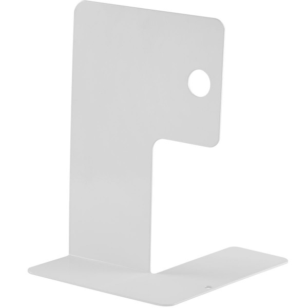 Design-Bücherstütze aus Stahl weiß