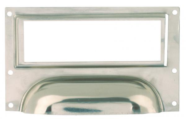 Häfele Etikettengriff H1755 Etikettengröße 80x26 mm Stahl vernickelt