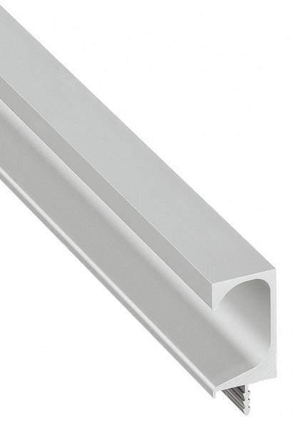 Griff-Profilleiste aus Aluminium silberfarben eloxiert 2500 mm