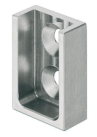 Häfele Schrankrohrlager eckig 25x15 Edelstahl zum Schrauben an die Seitenwand