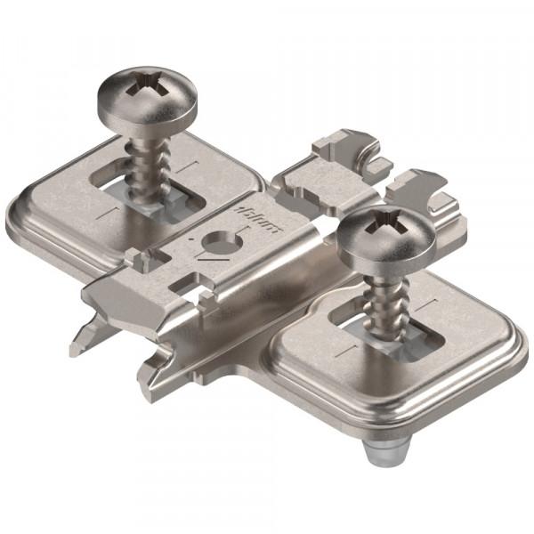 Blum Clip Top Kreuzmontageplatte mit Schrauben und Spreizdübeln 0 mm 174E6100.01