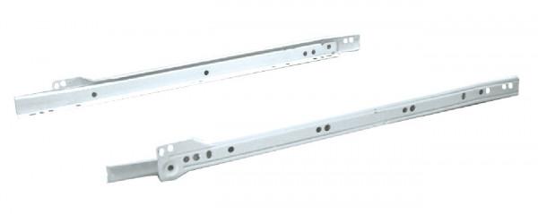 Häfele Rollenführung Teilauszug Tragkraft bis 25 kg aufliegende Montage Stahl weiß