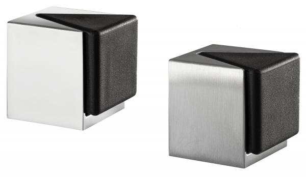 Design Boden-Türpuffer KIRA Silber Türstopper zum Kleben oder Schrauben