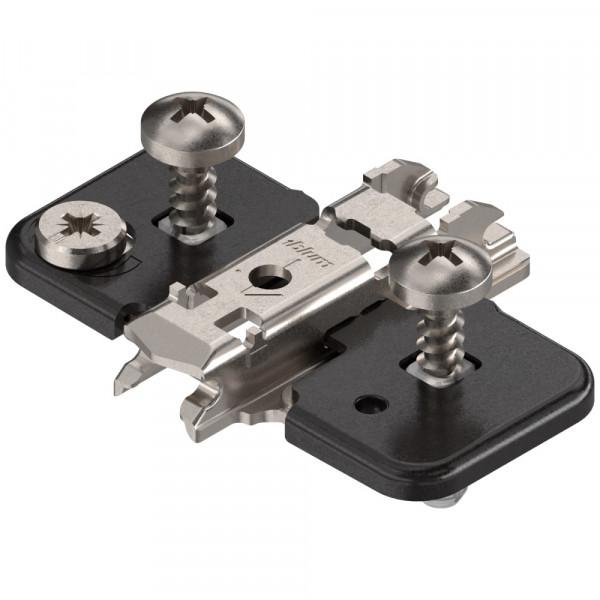 Blum Clip Top Kreuzmontageplatte ONYX mit Schrauben und Spreizdübeln 0 mm 174H7100E
