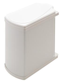 Hailo Einfach-Abfallsammler 18 Liter Uno Modell 3418-00 Stahl weiß