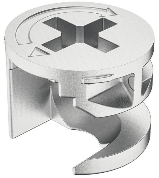 Verbindergehäuse MINIFIX 12 aus Metall ohne Abdeckrand Holzdicke ab 12 mm