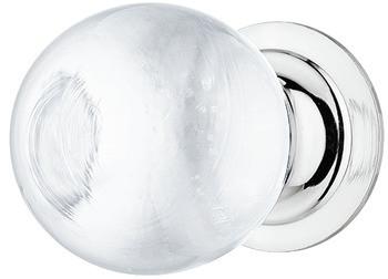 Häfele Möbelknopf H2047 Kugelknopf Glas/Messing rund