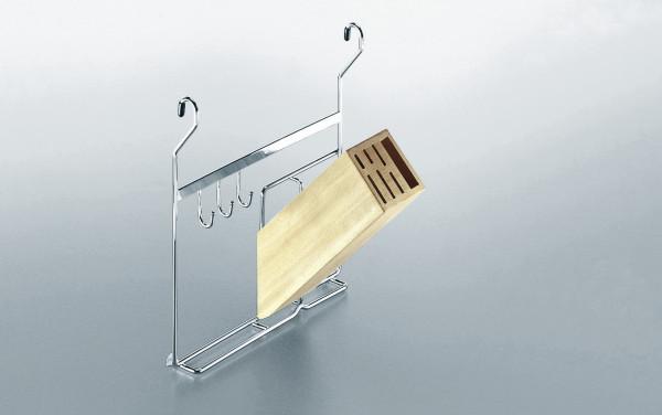 Kesseböhmer Messerhalter Linero zum Einhängen in Relingrohr Stahl