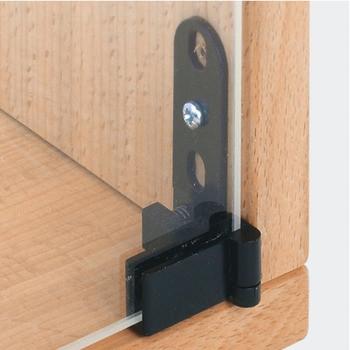 Häfele Glastürscharnier H1412 für Türmontage ohne Glasbohrung Innenanschlag