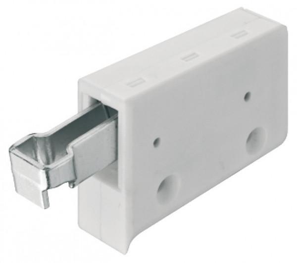 Häfele Schrankaufhänger für Oberschrank zum Schrauben Kunststoff weiß